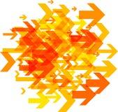 Weißer Hintergrund mit orange Pfeilen Lizenzfreie Stockfotografie