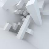 Weißer Hochbau der abstrakten Architektur Stock Abbildung