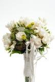 Weißer Hochzeitsblumenstrauß Lizenzfreies Stockbild