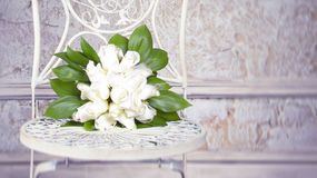 Weißer Hochzeitsblumenstrauß Stockbilder