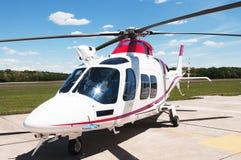 Weißer Hubschrauber Lizenzfreies Stockfoto