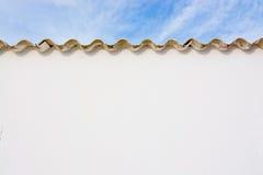 Weißer Ibiza-Wandhintergrund Stockbilder