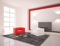 Weißer Innenraum der modernen Auslegung lizenzfreie abbildung