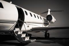 Weißer Jet Stockfotos