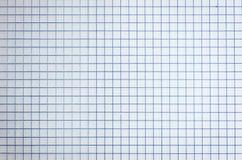 Weißer Karopapierblatthintergrund Lizenzfreie Stockbilder
