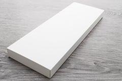 Weißer Kasten für Spott oben stockbild