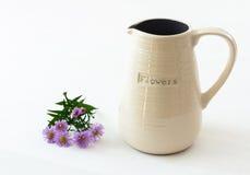 Weißer keramischer Vase Stockbild