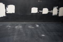 Weißer Kitt auf dem Metall Stockfoto