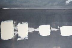 Weißer Kitt auf dem Metall Lizenzfreies Stockfoto
