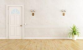 Weißer klassischer Raum Stockbild