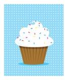 Weißer kleiner Kuchen Stockfotos