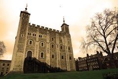 Weißer Kontrollturm in London-Kontrollturm Lizenzfreies Stockbild