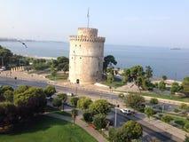 Weißer Kontrollturm Saloniki Lizenzfreies Stockfoto