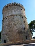 Weißer Kontrollturm von Saloniki Stockfotografie