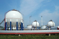Weißer Kraftstofftank Stockfoto