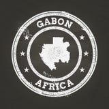Weißer Kreidebeschaffenheits-Schmutzstempel mit Gabonesen Stockfotos