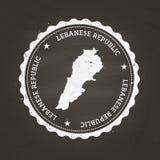 Weißer Kreidebeschaffenheitsstempel mit Libanesen Lizenzfreie Stockbilder