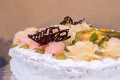 Weißer Kuchen Stockbilder