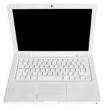 Weißer Laptop Lizenzfreie Stockbilder