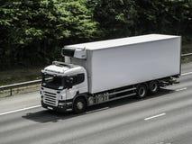 Weißer Lastwagen stockbilder