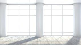 Fenster innenraum  Weißer Leerer Innenraum Mit Großem Fenster Stock Abbildung - Bild ...