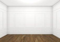 Weißer leerer klassischer Raum Stockbild