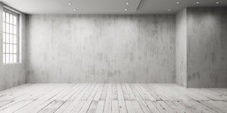 Weißer leerer Raum stock abbildung