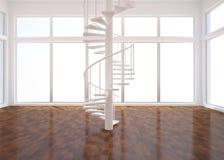 Weißer leerer Raum Stockfoto