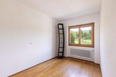 Weißer leerer Raum mit Naturansicht stockfotos