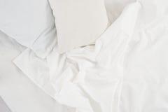 Weißer Leinenstoff Stockbild