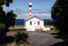 Weißer Leuchtturm Stockbild