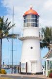 Weißer Leuchtturm Lizenzfreies Stockfoto