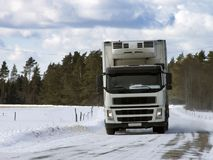weißer LKW lizenzfreie stockfotografie