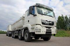 Weißer MANN TGS 35 LKW 480 harter Beanspruchung Lizenzfreies Stockbild