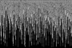 Weißer Matrixhintergrund computererzeugt Lizenzfreie Stockfotos