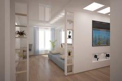 Weißer moderner Innenraum Stockbild