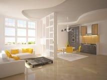 Weißer moderner Raum Stockfoto