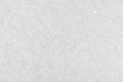 Weißer organischer Cane Sugar gegen einen Hintergrund Selektiver Fokus Stockfotografie