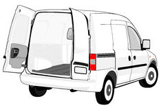 Weißer Packwagen lizenzfreie abbildung