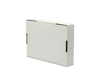 Weißer Paket-Kasten Für Software, elektronisches Gerät und andere PR Lizenzfreies Stockfoto