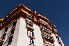 Weißer Palast des Potala Palastes in Lhasa, Tibet Lizenzfreie Stockfotografie