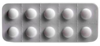 Weißer Pilleblasensatz Lizenzfreie Stockbilder