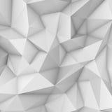 Weißer polygonaler dreieckiger Hintergrund Stockbilder