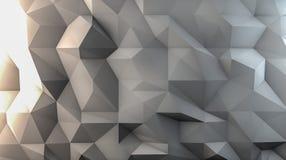 Weißer Polygonhintergrund Lizenzfreie Stockfotografie