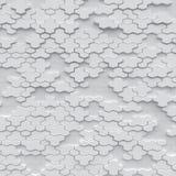 Weißer Polygonhintergrund mit wireframe Lizenzfreie Stockfotos