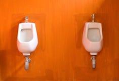 Weißer Porzellan Urinal lizenzfreies stockfoto