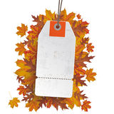 Weißer Preis-Aufkleber Autumn Sale Lizenzfreies Stockbild
