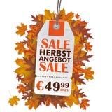 Weißer Preis-Aufkleber Herbst Angebot Lizenzfreie Stockfotos