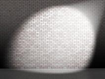 Weißer Punkt auf Wand Stockbild