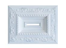 Weißer Rahmen der klassischen Art Stockfoto